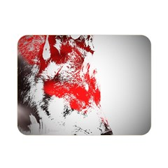 Red Black Wolf Stamp Background Double Sided Flano Blanket (mini)  by Nexatart