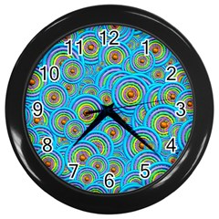 Digital Art Circle About Colorful Wall Clocks (black) by Nexatart