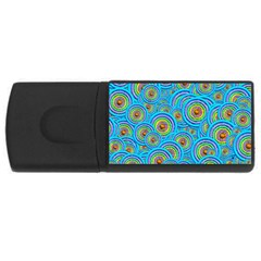 Digital Art Circle About Colorful Usb Flash Drive Rectangular (4 Gb) by Nexatart