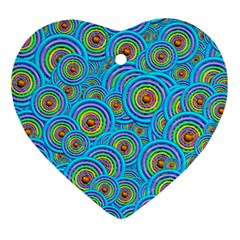 Digital Art Circle About Colorful Heart Ornament (two Sides) by Nexatart