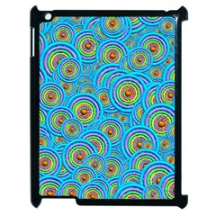 Digital Art Circle About Colorful Apple Ipad 2 Case (black) by Nexatart