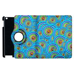 Digital Art Circle About Colorful Apple Ipad 2 Flip 360 Case by Nexatart