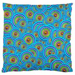 Digital Art Circle About Colorful Large Flano Cushion Case (two Sides) by Nexatart