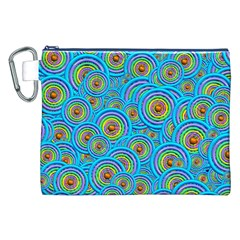 Digital Art Circle About Colorful Canvas Cosmetic Bag (xxl) by Nexatart