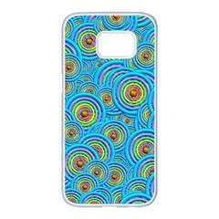 Digital Art Circle About Colorful Samsung Galaxy S7 Edge White Seamless Case by Nexatart