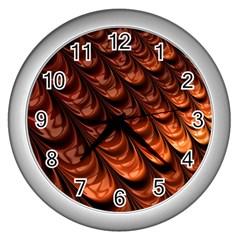 Fractal Mathematics Frax Wall Clocks (silver)  by Nexatart