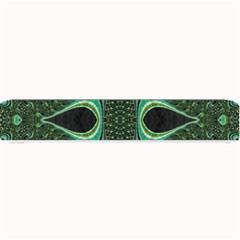 Fractal Art Green Pattern Design Small Bar Mats by Nexatart
