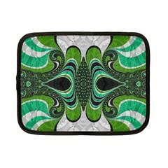 Fractal Art Green Pattern Design Netbook Case (small)  by Nexatart