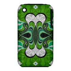 Fractal Art Green Pattern Design Iphone 3s/3gs by Nexatart