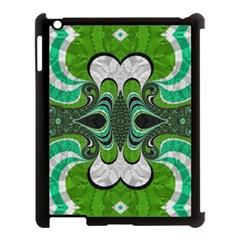 Fractal Art Green Pattern Design Apple Ipad 3/4 Case (black) by Nexatart