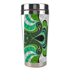 Fractal Art Green Pattern Design Stainless Steel Travel Tumblers by Nexatart