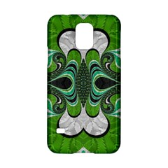 Fractal Art Green Pattern Design Samsung Galaxy S5 Hardshell Case  by Nexatart