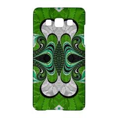 Fractal Art Green Pattern Design Samsung Galaxy A5 Hardshell Case  by Nexatart