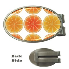 Orange Discs Orange Slices Fruit Money Clips (oval)  by Nexatart