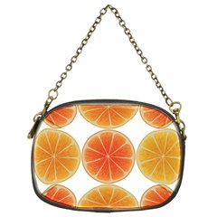 Orange Discs Orange Slices Fruit Chain Purses (two Sides)  by Nexatart