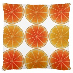Orange Discs Orange Slices Fruit Large Cushion Case (two Sides) by Nexatart