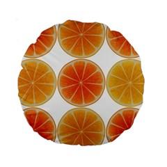 Orange Discs Orange Slices Fruit Standard 15  Premium Round Cushions by Nexatart