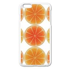 Orange Discs Orange Slices Fruit Apple Iphone 6 Plus/6s Plus Enamel White Case by Nexatart
