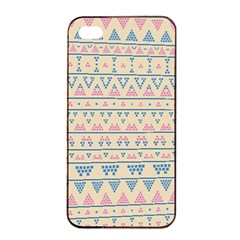 Blue And Pink Tribal Pattern Apple Iphone 4/4s Seamless Case (black) by berwies