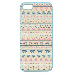 Blue And Pink Tribal Pattern Apple Seamless Iphone 5 Case (color) by berwies