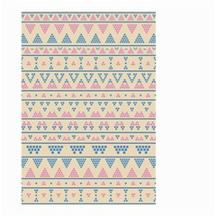 Blue And Pink Tribal Pattern Small Garden Flag (two Sides) by berwies