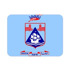 Flag Of Haifa Double Sided Flano Blanket (mini)  by abbeyz71