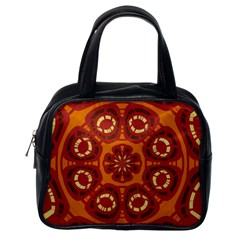 Dark Red Abstract Classic Handbags (one Side) by linceazul