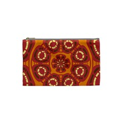 Dark Red Abstract Cosmetic Bag (small)  by linceazul