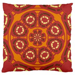 Dark Red Abstract Large Cushion Case (one Side) by linceazul
