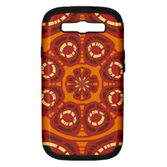 Dark Red Abstract Samsung Galaxy S Iii Hardshell Case (pc+silicone) by linceazul