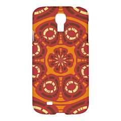 Dark Red Abstract Samsung Galaxy S4 I9500/i9505 Hardshell Case by linceazul