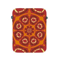 Dark Red Abstract Apple Ipad 2/3/4 Protective Soft Cases by linceazul