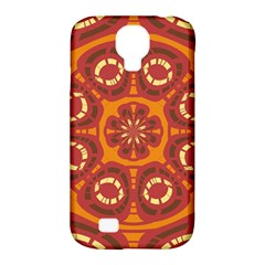 Dark Red Abstract Samsung Galaxy S4 Classic Hardshell Case (pc+silicone) by linceazul