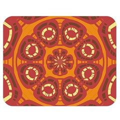 Dark Red Abstract Double Sided Flano Blanket (medium)  by linceazul