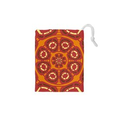 Dark Red Abstract Drawstring Pouches (xs)  by linceazul