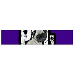 Pug Flano Scarf (small) by Valentinaart