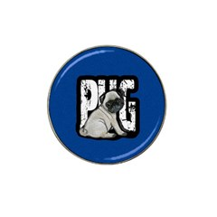Pug Hat Clip Ball Marker (10 Pack) by Valentinaart