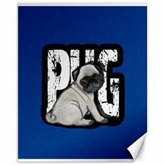 Pug Canvas 11  X 14   by Valentinaart