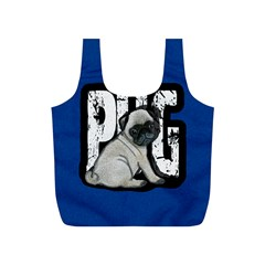 Pug Full Print Recycle Bags (s)  by Valentinaart