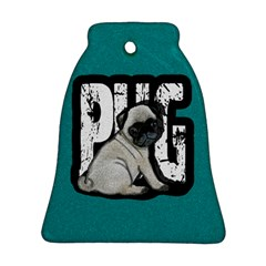 Pug Ornament (bell) by Valentinaart