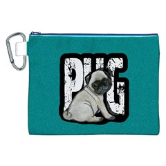 Pug Canvas Cosmetic Bag (xxl) by Valentinaart