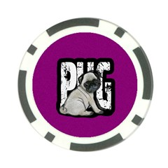 Pug Poker Chip Card Guard by Valentinaart