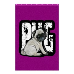 Pug Shower Curtain 48  X 72  (small)  by Valentinaart