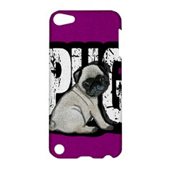 Pug Apple Ipod Touch 5 Hardshell Case by Valentinaart