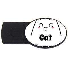 Love My Cat Mommy Usb Flash Drive Oval (4 Gb) by Catifornia