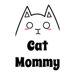 Love My Cat Mommy Shower Curtain 48  X 72  (small)  by Catifornia