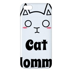 Love My Cat Mommy Apple Iphone 5 Premium Hardshell Case by Catifornia