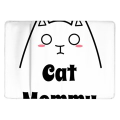 Love My Cat Mommy Samsung Galaxy Tab 10 1  P7500 Flip Case by Catifornia