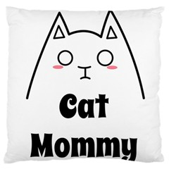 Love My Cat Mommy Large Flano Cushion Case (one Side) by Catifornia