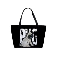 Pug Shoulder Handbags by Valentinaart
